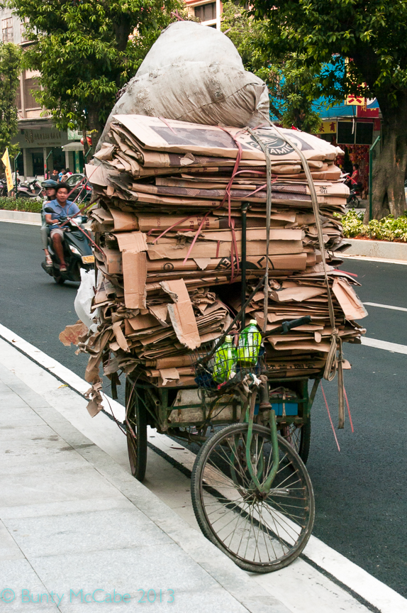 A working tricycle: recycling